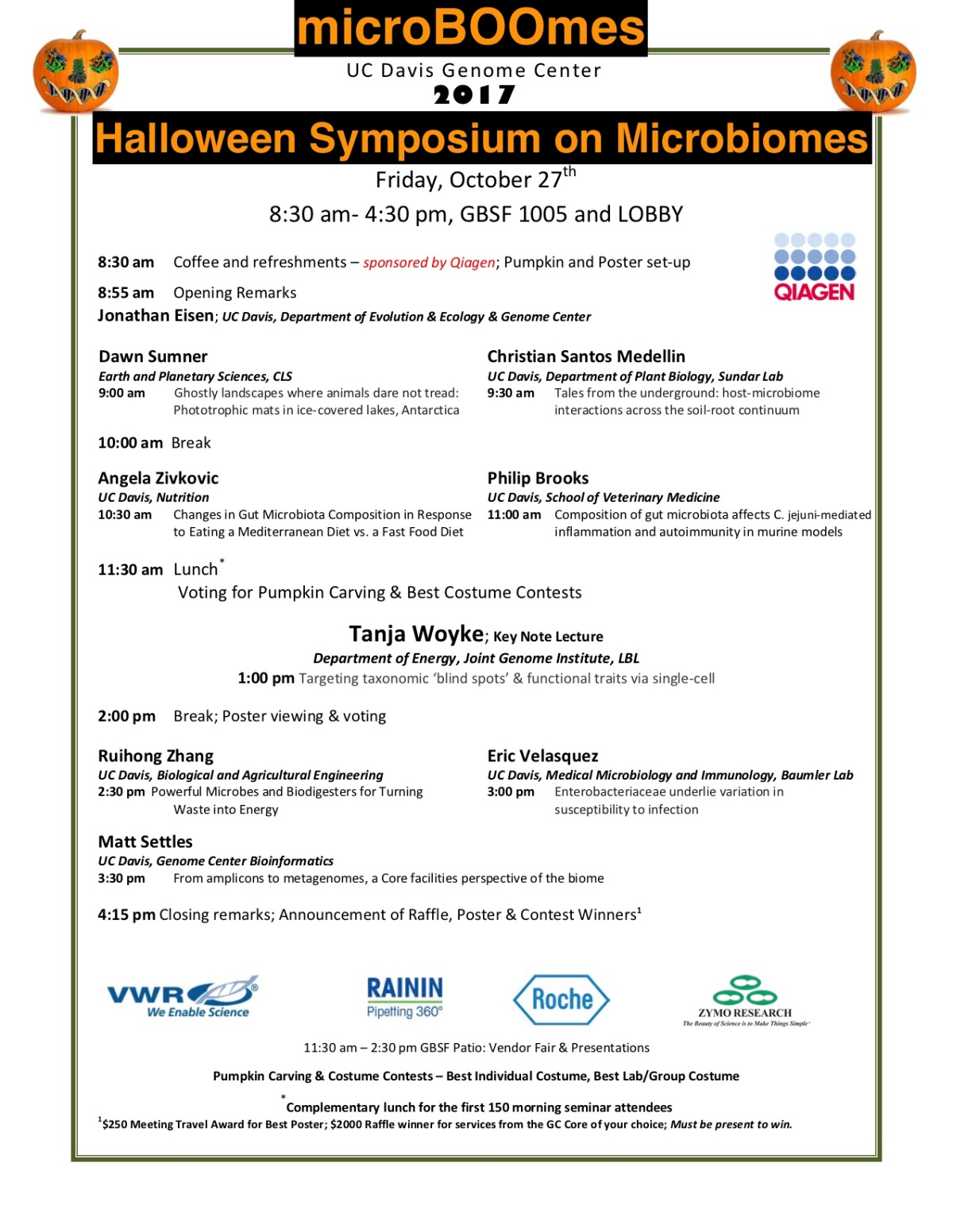Genome Center Halloween Symposium 2020 10/27 – microBOOmes: UC Davis Genome Center Halloween Symposium on
